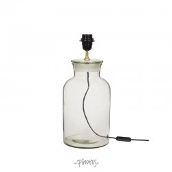 Bordlampe i glas H33cm