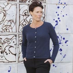 Gorridsen Design - Theia cashmere cardigan Indigo