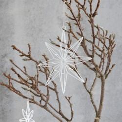 3 stk. hvide glimmerstjerner 20cm