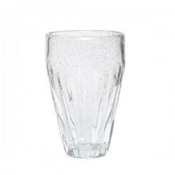 Drikkeglas m/ riller H14cm