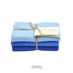Solwang karklude 3 stk - Klar blå