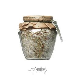 Italiensk grov kryddersalt på glas