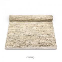 Rug Solid læder gulvtæppe - Natur