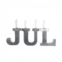 Zinklysestager JUL H 18cm