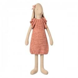 Maileg kanin - Pige i rosa strik kjole 66cm