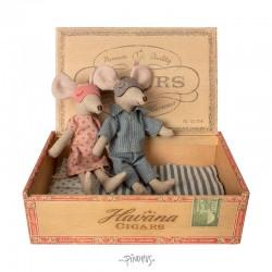 Maileg mus - Mor & far i cigaræske