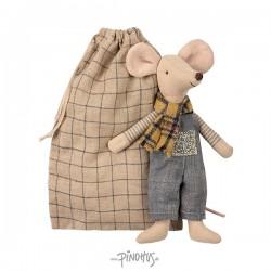 Maileg mus - Far mus i pose