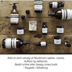 Munkholm øko håndsæbe - Rose & sandelwood