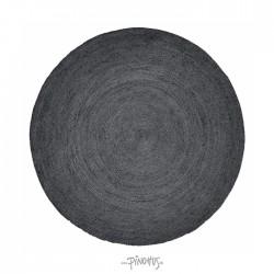 Nordal tæppe - sort jute 150cm