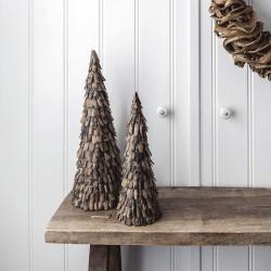 Rå bark juletræ