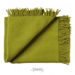 Uld plaid athen - Lime grøn