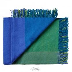 Plaid uld - Mix farve Blå