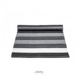 Plastik gulvtæppe - Sort/hvid/grå
