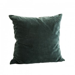 Pude - Velour grøn 50x50cm