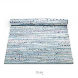 Kludetæppe bomuld - multi blue