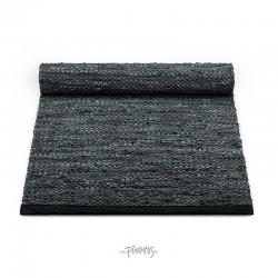 Læder Gulvtæppe - Grey contrast