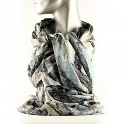 Tørklæde silke - Rain