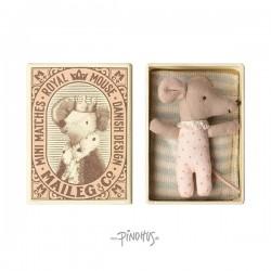 Maileg - Sleepy baby mus i æske (pige)