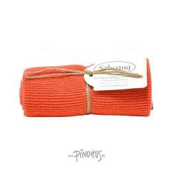 Solwang strikket håndklæde - Terracotta
