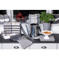 Solwang strikket håndklæde - Mørk grå