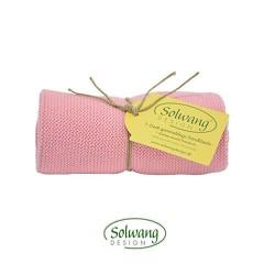 Solwang strikket håndklæde - Rosa