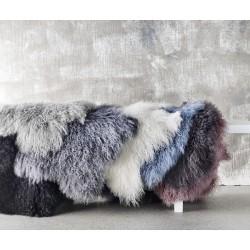 Tibetansk skind lys grå