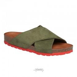Annet sandal - Army m/ rød bund