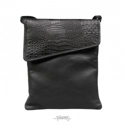 Flap over taske alligator