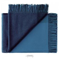Merino uld plaid - Mix farve Blå