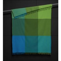 Plaid uld - Mix farve Grøn