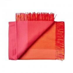 Plaid uld - Mix farve rød