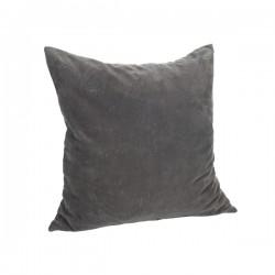 Pude - Velour Grå 50x50cm