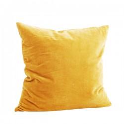Pude - Velour gul 50x50cm