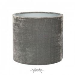 Silk Velour lampeskærm - mørk grå