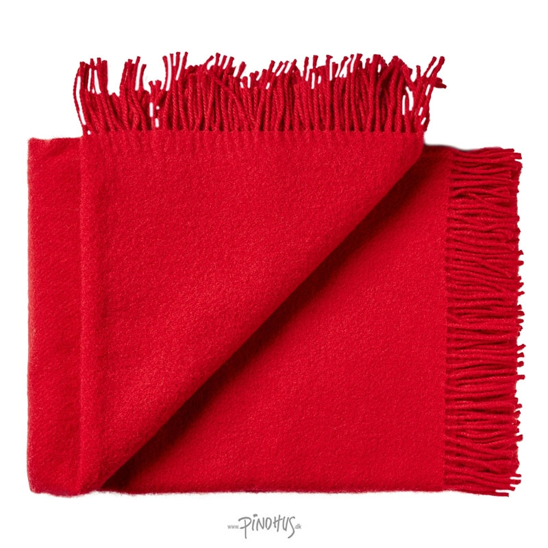 Uld plaid athen - Rød