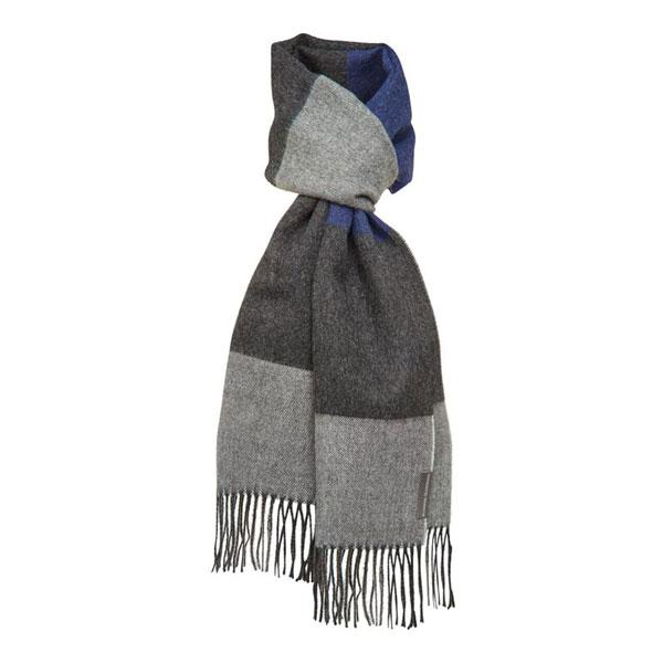 Halstørklæde - Baby alpaca salta blå