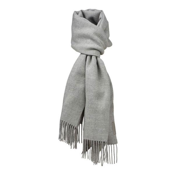 Halstørklæde - Baby alpaca Lys grå